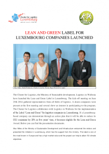 lean and green launch